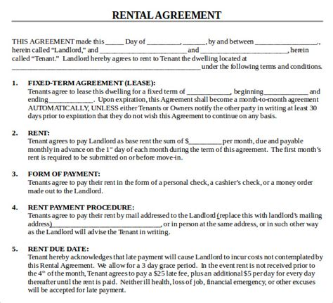 house rental agreement sle house lease agreement 9 free documents in pdf word