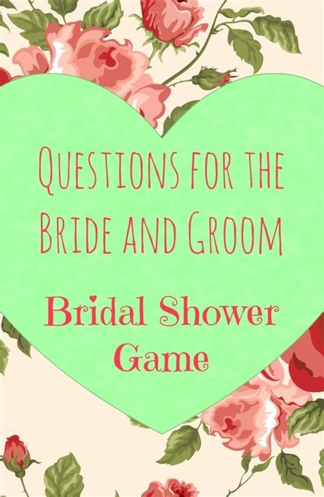 1000  ideas about Bridal Shower Questions on Pinterest