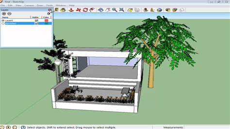 google sketchup 8 tutorial layers how to work with layers in google sketchup youtube