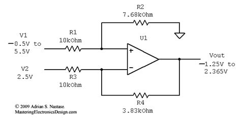 differential op resistor values solving the differential lifier part 1 mastering electronics design
