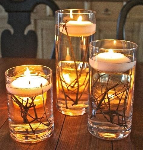 candle centerpieces for diy candle centerpiece ideas lanai