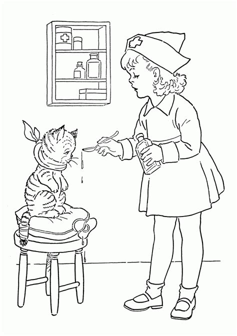 coloring page nurse school nurse coloring pages coloring home