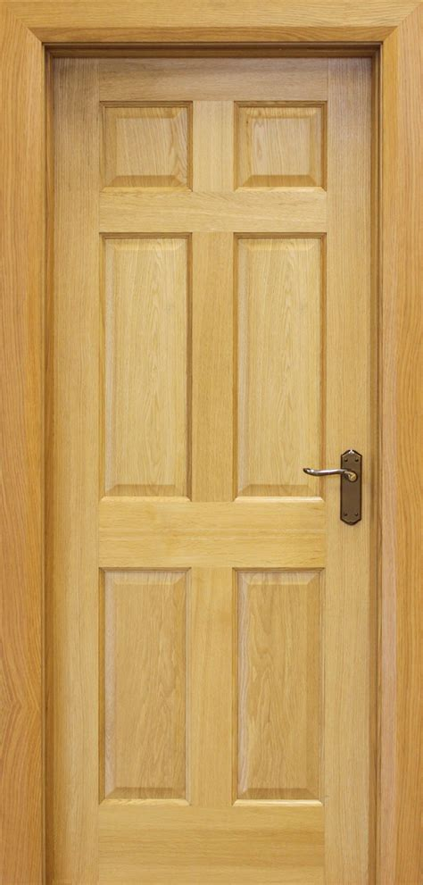 Six Panel Solid Wood Interior Doors 6 Panel White Oak Door 40mm Internal Doors Oak Doors