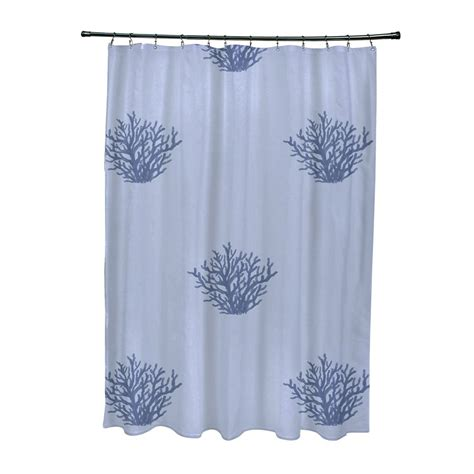 Coastal Design Shower Curtains E By Design Scogh23 Coastal Calm Coral Shower Curtain Atg Stores