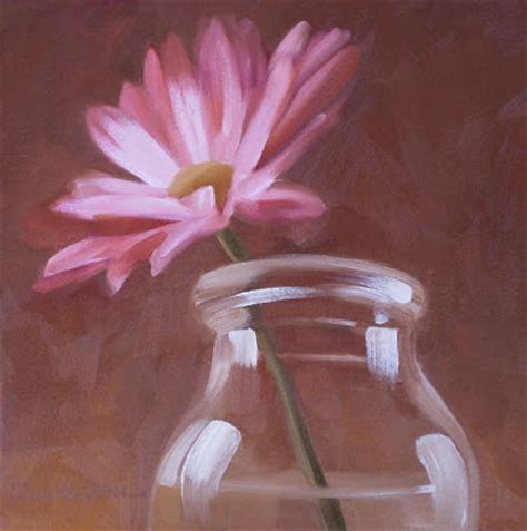 diane hoeptner pink on brown painting
