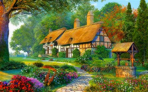 Cottage Wallpapers by Cottages Wallpapers Cottages Stock Photos