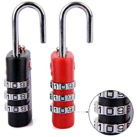 travel luggage suitcase code padlock 3 digit combination tsa 335 gembok tas koper black