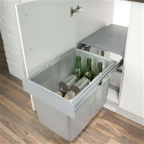 kitchen cabinet recycle bins ekko pull out waste bin for recycling kitchen waste 1 x