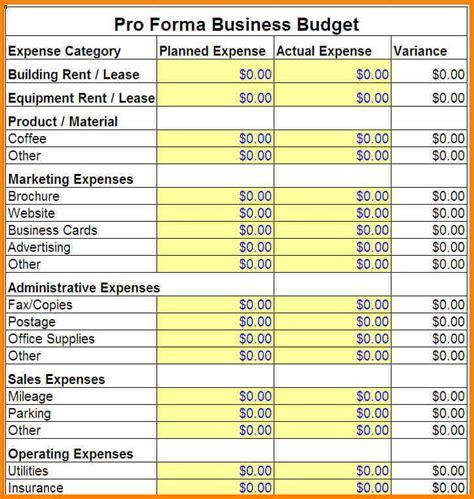operations budget template 6 operating budget template monthly bills template