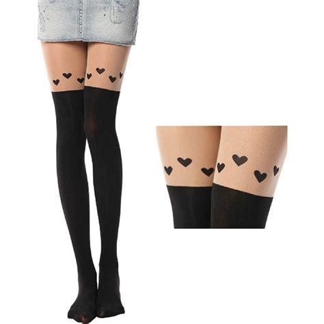 sexy black cute cat tattoo socks sheer pantyhose mock sexy black cute cat tattoo socks sheer pantyhose mock