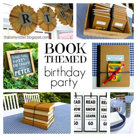 book novel themes that s my letter quot b quot is for book themed birthday party
