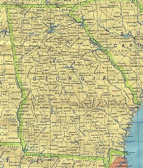 ga map maps perry casta 241 eda map collection ut library