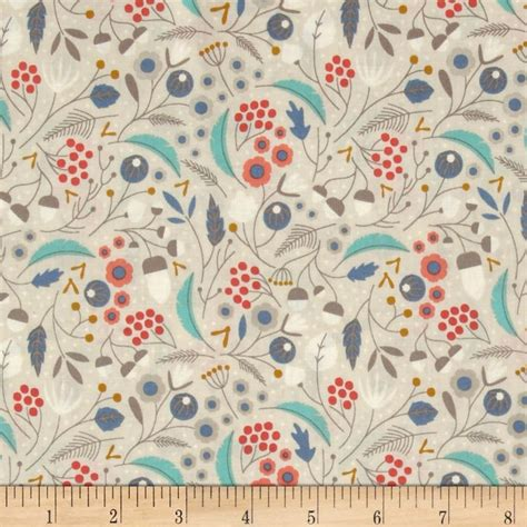 Discount Quilting Fabric by Cloud 9 Organic Wildwood Forest Floor Khaki