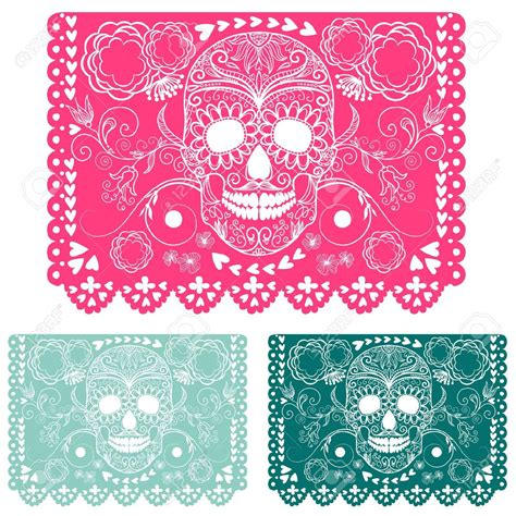 papel picado template for papel picado calavera template search projects