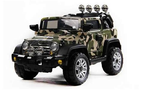 R 2004 Ala Army 12 volts jeep 4x4 voiture electrique enfant army camouflage