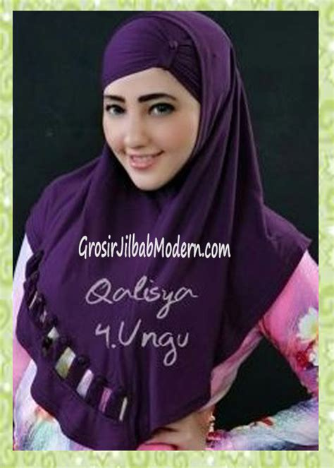 Jilbab Instan Qalisya jilbab syria modis nuha original by qalisya no 4 ungu grosir jilbab modern jilbab cantik