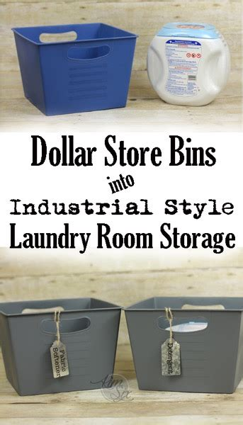 room storage bins laundry room storage from plastic dollar store bins this makeover is so easy just paint and