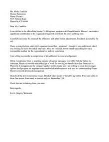 counter offer letter sles resume help