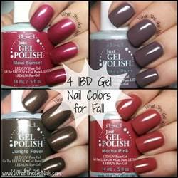 ibd gel nail colors fall