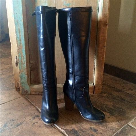 59 report boots report saco black leather knee high