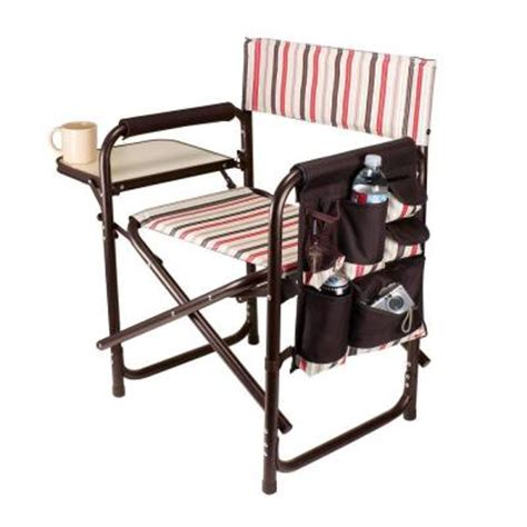 picnic time gardener folding chair with tools picnic time moka collection sports portable folding patio