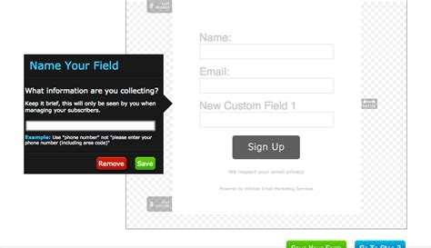 How To Customize And Share A Sign Up Form In Aweber Online Presence Coach Aweber Signup Form Templates