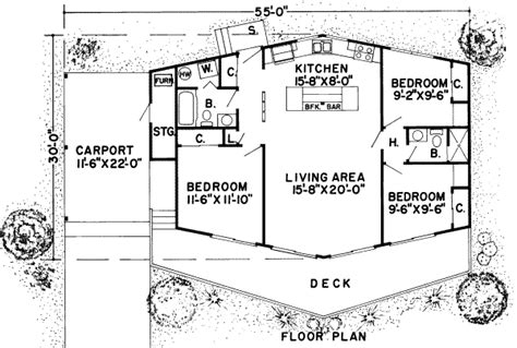 Carport Plans 1040 by Contemporary Style House Plan 3 Beds 2 00 Baths 1040 Sq