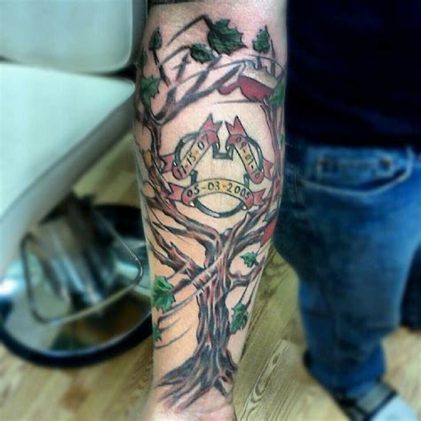 family tattoo on forearm family tree tattoo on arm fmag com