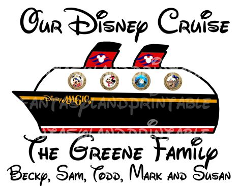 disney cruise ship personalized disney disney magic personalized diy printable magnet iron