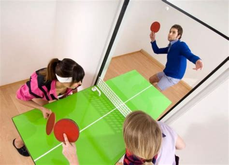 ping pong table shaped like easter island the ping pong door neatorama