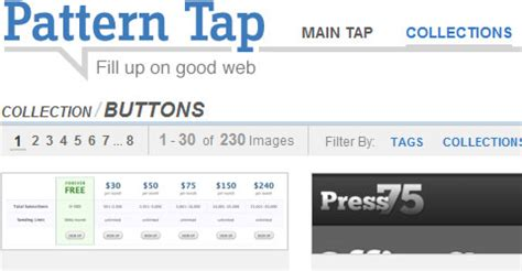 pattern tap buttons call to action buttons exles and best practices