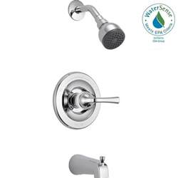 Delta Shower Faucets With Sprays delta foundations single handle 1 spray tub and shower faucet in chrome valve included b114900