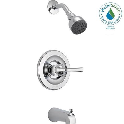 Bathroom Shower Valve Delta Foundations Single Handle 1 Spray Tub And Shower Faucet In Chrome Valve Included B114900