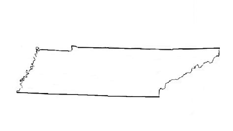 Tennessee Outline Map by Tennessee Outline Clip 21