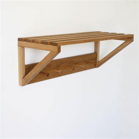 oak peg shelf by a b furniture notonthehighstreet