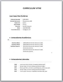 formatos de curriculum vitae 2014 machote curriculum vitae hairstylegalleries com