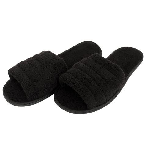 mens open toe house slippers mens slippers open toe house shoe slip on scuff bath soft