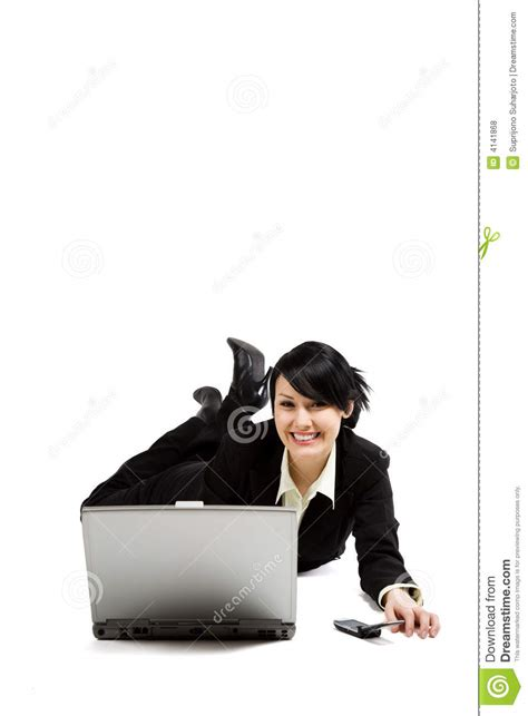 On Your While You Working On The Floor by Working Businesswoman Royalty Free Stock Photos Image