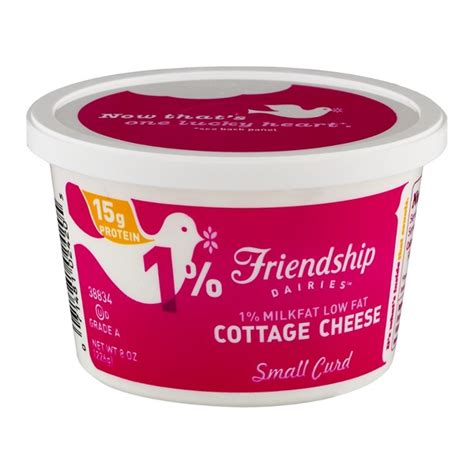 calories in cottage cheese low friendship dairies 1 milkfat low cottage cheese small