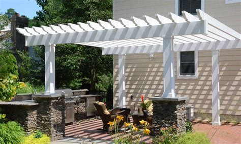raised patio with pergola landscaping gardening ideas