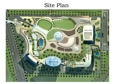 site plan overview supertech supernova at sector 94 noida