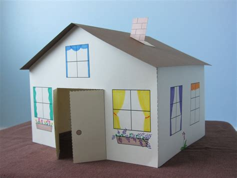 How To Make A 3d House With Paper - printable 3d paper crafts house journalingsage