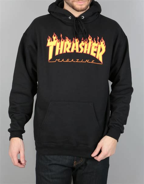 Sweater Hoodie Thrasher Jaspirow Shopping 1 thrasher logo pullover hoodie black skate pullover hoodies mens hoodies clothing