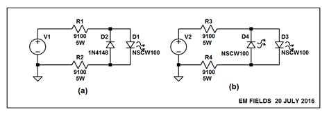 what resistor should i use for an led what should my resistor wattage be to run a led on 240vac electrical engineering stack exchange