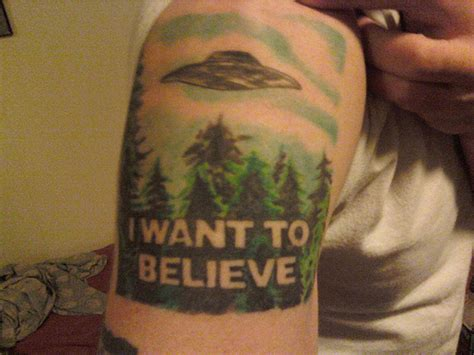 i want to believe tattoo has an x files flickr photo