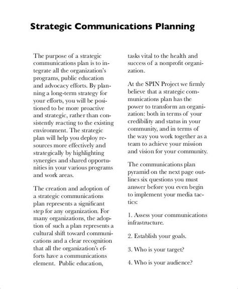 Free Strategic Plan 45 Free Word Pdf Ppt Format Download Free Premium Templates Strategic Communication Plan Template