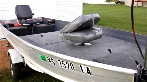 12 foot jon boat upgrades v hull to bass boat youtube
