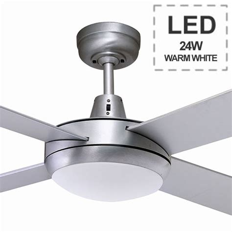 Ceiling Fan Warehouse by 2 Ceiling Fan With Led Light Brushed Aluminium 52 Quot