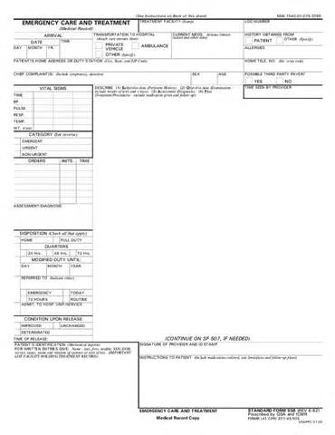 Emergency Room Release Form Template by Emergency Room Visit Release Form Hashdoc