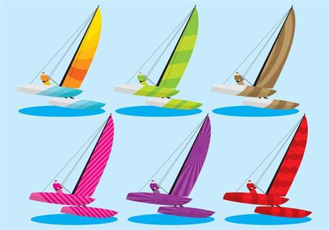 catamaran vector colorful catamaran vectors download free vector art